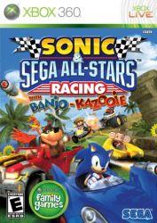 XBOX 360. SONIC SEGA ALL STARS RACING E BANJO. NOVO.