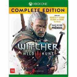 XBOX ONE. THE WITCHER III 3 COMPLETE EDITION + 16 DLCs. 100% PORTUGUÊS. NOVO.