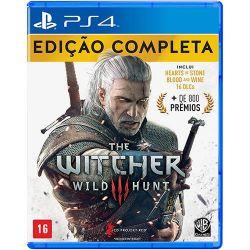 PS4. THE WITCHER III 3 EDIÇÃO COMPLETA + 16 DLCs. 100% PORTUGUÊS. NOVO.