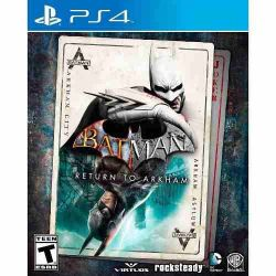 PS4. BATMAN RETURN TO  ARKHAM. ASYLUM + CITY. 2 JOGOS. EM PORTUGUÊS. . NOVO