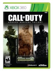 XBOX 360. CALL OF DUTY MW1 + MW2 + MW3. MODERN WARFARE TRILOGY. 3 DVDS. NOVO.