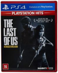 PS4. THE LAST OF US REMASTERED.  100% EM PORTUGUÊS. NOVO.