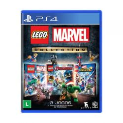 PS4.  LEGO MARVEL COLLECTION. LEGO SUPER HEROES 1 E 2. LEGO VINGADORES. EM PORTUGUÊS. NOVO.