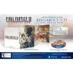 PS4. FINAL FANTASY. THE ZODIAC AGE. LIMITED STEELBOOK EDITION. NOVO.