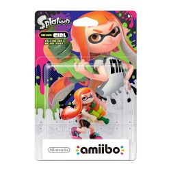 AMIIBO. SPLATOON INKLING GIRL ORANGE. NOVO.