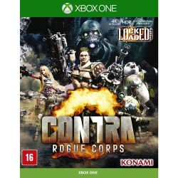 XBOX ONE. CONTRA ROGUE CORPS. LOCKED LOAD EDITION. EM PORTUGUÊS. NOVO.