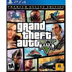 PS4.  GTA V. 5 PREMIUM. EM PORTUGUÊS.  GRAND THEFT AUTO V.  NOVO.