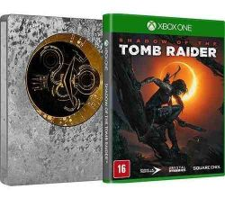 XBOX ONE. SHADOW OF THE TOMB RAIDER. 100% EM PORTUGUÊS. CAIXA DE METAL. STEELBOOK. NOVO.