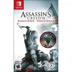 SWITCH. ASSASSINS CREED III. 3. REMASTERED . 100% EM PORTUGUÊS. NOVO.