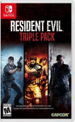 SWITCH. RESIDENT EVIL TRIPLE PACK. RESIDENT 4, 5 E 6. NOVO.