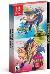 SWITCH. POKEMON SHIELD + SWORD + CÓDIGOS EXTRAS. DOUBLE PACK. NOVO.