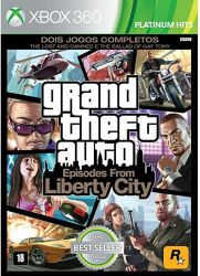 XBOX 360. GTA LIBERTY CITY. EPISODES FROM LIBERTY CITY ; THE LOST AND  DAMNED E THE BALLAD OF GAY TONY. NOVO.