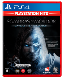 PS4. SHADOW OF MORDOR. SOMBRAS. GAME OF THE YEAR. EXTRAS. 100% EM PORTUGUÊS. SOMBRAS. MIDDLE EARTH. LORD RINGS. NOVO.