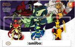 AMIIBO. SHOVEL KNIGHT . SPECTER ,  PLAGUE E KING . NOVO.