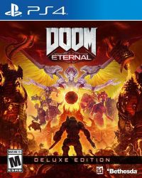 PS4. DOOM ETERNAL DELUXE ETIDION. NOVO.