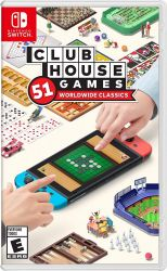 SWITCH. CLUBHOUSE GAMES: 51 WORLDWIDE CLASSICS. NOVO.