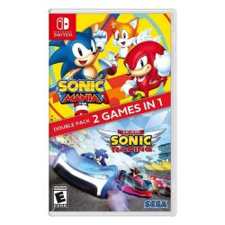 SWITCH. SONIC MANIA + SONIC TEAM RACING. DOUBLE PACK. NOVO.