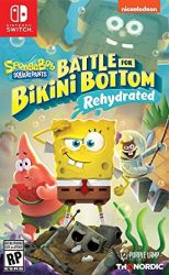 SWITCH. BOB SPONJA. SPONGEBOB SQUAREPANTS: BATTLE FOR BIKINI BOTTOM. PORTUGUÊS. NOVO.