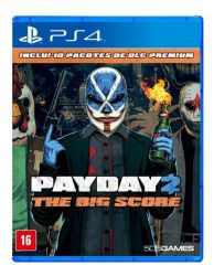 PS4. PAYDAY 2. THE BIG SCORE. PAY DAY.  NOVO.